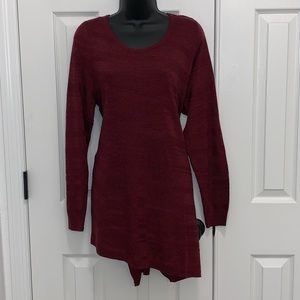 Brand new Apt 9 tunic maroon sweater size OX